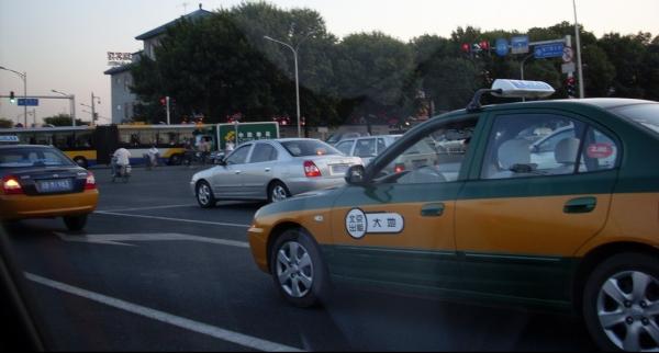 Taxis in Beijing.